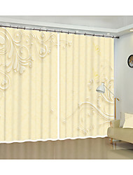 cheap -Modern Simple Decorative Curtain Environmental Protection Digital Printing 3D Curtain Light Yellow Simple Pattern Shade Curtain High Precision Black Silk Fabric High Quality First-class Shade Bedroom