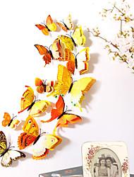 Недорогие -животные двухслойные наклейки на стены 3d наклейки на стены декоративные наклейки на стены наклейки на выключатели света наклейки на холодильник свадебные наклейки пвх домой - желтый