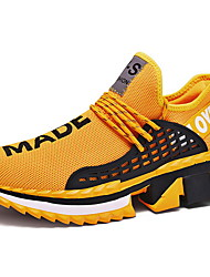 cheap -Men's Comfort Shoes Mesh Fall & Winter Athletic Shoes Running Shoes Black / White / Yellow