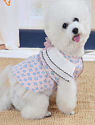 cheap -Dogs Cats Pets Dress Dog Clothes Pink Beige Costume Baby Small Dog Polyster Princess Wedding XS S M L XL