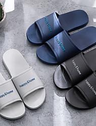 Недорогие -мужские тапочки / тапочки для мальчиков скользящие тапочки / домашние тапочки повседневная резиновая однотонная обувь