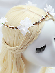 cheap -Fabrics Headdress with Flower 1 Piece Wedding / Special Occasion Headpiece