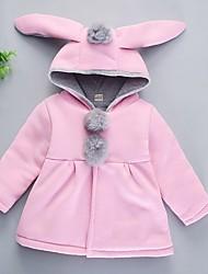 abordables -bébé Fille Basique Couleur Pleine Manches Longues Coton Veste & Manteau Rose Claire / Bébé
