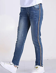 cheap -Kids Girls' Basic Solid Colored Jeans Blue