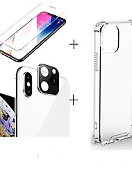 cheap -3 in 1/set For iphone 11/11pro/11 pro max  Screen Protector  transparent case silicone  Camera Lens glass film