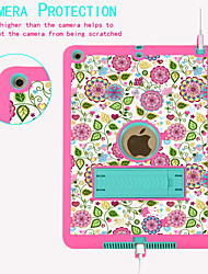 cheap -Case For Apple iPad (2018) / iPad New Air(2019) / iPad (2017) Embossed / Child Safe Case / DIY Bumper Scenery / Flower Silica Gel