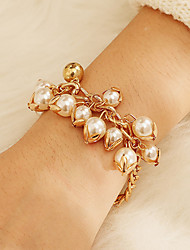 cheap -Women's Vintage Bracelet Earrings / Bracelet Pendant Bracelet Retro Lucky Simple Classic Vintage Trendy Fashion Imitation Pearl Bracelet Jewelry Gold For Gift Daily Holiday Festival