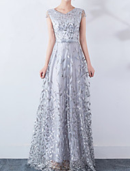cheap -Women's Maxi Swing Dress - Short Sleeve Solid Colored Lace V Neck Elegant Wine Black Blue Beige Gray S M L XL XXL