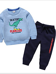 cheap -Toddler Boys' Basic Solid Colored Long Sleeve Clothing Set Black
