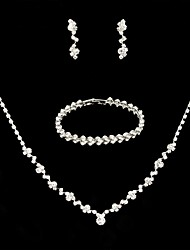 cheap -Women's Jewelry Set Bridal Jewelry Sets Simple Elegant Korean Fashion Earrings Jewelry Silver For Wedding Party Evening Gift Engagement 1 set