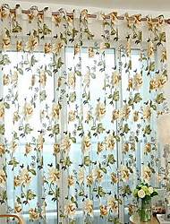 cheap -Floral Sheer One Panel Sheer Girls Room   Curtains