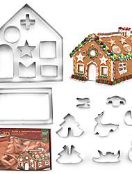 Недорогие -Рождественское печенье 18 шт. Нержавеющая сталь пресс-формы магазин 3D формочки печенья 3 г формочки печенья