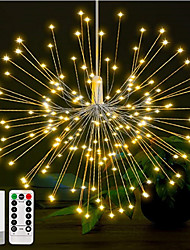 cheap -1set 180LEDs DIY LED Fairy String Light 8 Modes Hanging Starburst Holiday Light with Remote Control Decoration Outdoor Twinkle Light