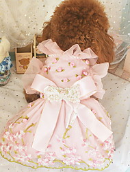 cheap -Dogs Cats Pets Dress Dog Clothes Pink Costume Polyster Print Fashion XXS XS S M L XL