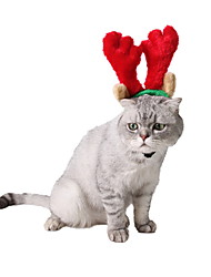 cheap -Dog Cat Hair Accessories Bowknot Holiday Christmas Winter Dog Clothes Red Costume Polyster S L