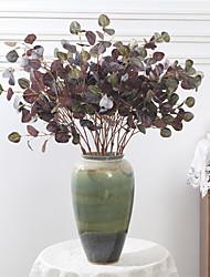 abordables -simulation green plantation cercle feuille d'eucalyptus décoration de mariage décoration maison