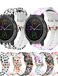 cheap -Printing Silicone Watch Band For Garmin Vivoactive 3 / Vivomove HR / Forerunner 645 / 245M / Venu / Vivomove Replaceable Bracelet Wrist Strap Wristband