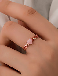 cheap -Women's Ring 1pc Rose Gold Silver Copper Street Jewelry