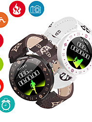 cheap -Men's Smartwatch Digital Stylish White / Brown 30 m Heart Rate Monitor Smart Sleep Mode Digital Fashion - Brown White One Year Battery Life