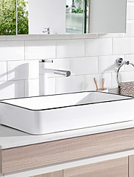 cheap -Bathroom Sink Contemporary - Glass Rectangular Vessel Sink