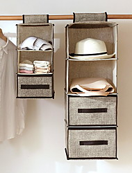 cheap -4 Tiers Cloth Hanging Shelf for Closet Organizer with 2 Widen Straps and 4 Mesh Pockets, Foldable