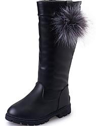 cheap -Girls' Comfort PU Boots Little Kids(4-7ys) Black / Red / Wine Winter / Mid-Calf Boots
