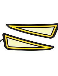 Недорогие -2 шт. Drl фары дневного света орлиный глаз початка светодиодные авто лампы белый поворот желтый drl сигнал поворота автомобиля потепление свет стайлинга автомобилей 12 В