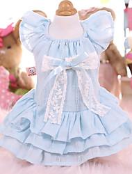 cheap -Dogs Cats Pets Dress Dog Clothes Light Blue Pink Costume Polyster Lolita Dresses&Skirts M L XL