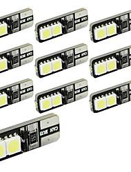 Недорогие -10 шт. T10 Автомобиль Лампы 1.5 W SMD 5050 250 lm 4 Светодиодная лампа Подсветка для номерного знака / Рабочее освещение / Задний свет Назначение Универсальный Avenger / Elysee / 9-5
