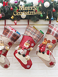 cheap -Christmas Stockings  Elk New Year Candy Bag Christmas Tree Ornaments Party Kids Gift Bags