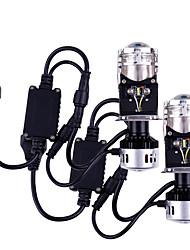 Недорогие -Новый мини-проектор объектив h4 светодиодный комплект для переоборудования лампа h4 9600lm автомобили привет / ло луч светодиодные лампы фар 12 В 5000 К белый