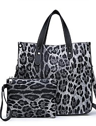 cheap -Women's PU Bag Set 2 Pieces Purse Set Black / Brown