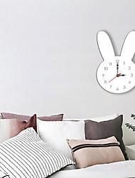 cheap -M.Sparkling Wall Clock Cartoon Acrylic Rabbit head Colorful Cute Literature Mute Animal Kitchen Clock Modern Design
