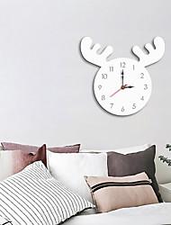 cheap -M.Sparkling Wall Clock Cartoon Acrylic Deer head Colorful Personality Literature Silent Kitchen Clock Modern Design