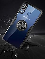 abordables -Coque Pour Samsung Galaxy Galaxy A10 (2019) / Galaxy A30 (2019) / Galaxy A50 (2019) Antichoc / Anneau de Maintien Coque Couleur Pleine TPU / PC / Métal
