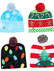 cheap -Knitted Christmas Hat LED Warm Protective Cap Beautiful Cool Classic Romance Christmas Gift Atmosphere