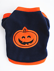 cheap -Dogs Sweatshirt Dog Clothes Orange Costume Pug Poodle Chihuahua Polar Fleece Pumpkin Cosplay Halloween XS S M L