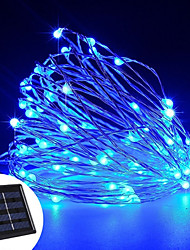 cheap -YWXLight® LED Solar Powered String Lights 12Watts 100 LED Copper Wire Lights Outdoor Waterproof Fairy Lamp For Wedding Christmas Decoration 1PC