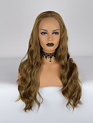 cheap -Synthetic Lace Front Wig Body Wave Bouncy Curl Middle Part Lace Front Wig Long Brown Synthetic Hair 18-26 inch Women's Heat Resistant Classic Synthetic Brown / Natural Hairline / Natural Hairline