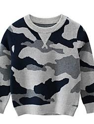 cheap -Kids Boys' Basic Print Long Sleeve Sweater & Cardigan Gray