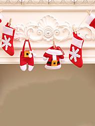 cheap -Christmas Banner Christmas Fireplace Decoration DIY Flag