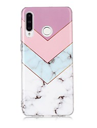 cheap -Case For Huawei Huawei P30 / Huawei P30 Pro / Huawei P30 Lite Ultra-thin / Pattern Back Cover Marble TPU