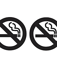 cheap -22x10cm No Smoking Reflective Car Stickers Auto Truck Vehicle Motorcycle Decal