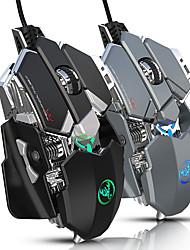 Недорогие -hxsj j600 usb оптическая игровая мышь электронная конкурентоспособная механическая мышь / эргономичная мышь с многоцветной подсветкой 800/1600/2400/3200/4800/6400 6 регулируемых уровней dpi 9 клавиш