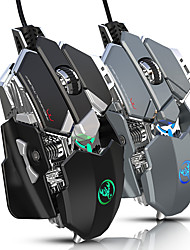 cheap -HXSJ J600 USB Optical Gaming Mouse Electronic Competitive Mechanical Mouse / Ergonomic Mouse Multi-colors Backlit 800/1600/2400/3200/4800/6400 6 Adjustable DPI Levels 9 Keys