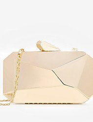 cheap -Women's Chain Alloy Evening Bag Lattice Black / Gold / Silver
