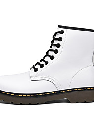 cheap -Men's Combat Boots PU Spring / Fall & Winter Casual Boots Walking Shoes Warm Booties / Ankle Boots Black / White / Green