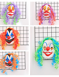 cheap -Mask Halloween Props Halloween Mask Inspired by Clown Scary Movie Blue / Green Blue+Orange Masks Halloween Halloween Men's Women's