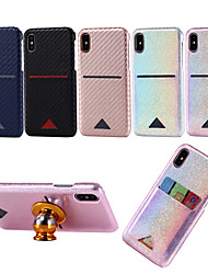 cheap -Case For Apple iPhone 11 / iPhone 11 Pro / iPhone 11 Pro Max Card Holder / Glitter Shine Full Body Cases Lines / Waves Carbon Fiber