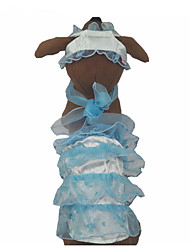 cheap -Dogs Cats Pets Dress Dog Clothes Yellow Blue Pink Costume Polyster Lolita Dresses&Skirts Headpieces S M L XL